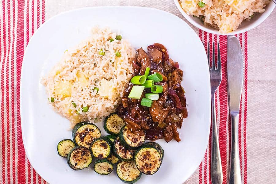 Hoisin Duck and Pineapple Rice