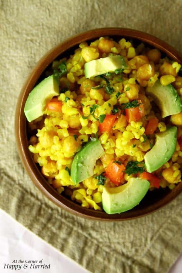 Lemony Brown Rice Salad