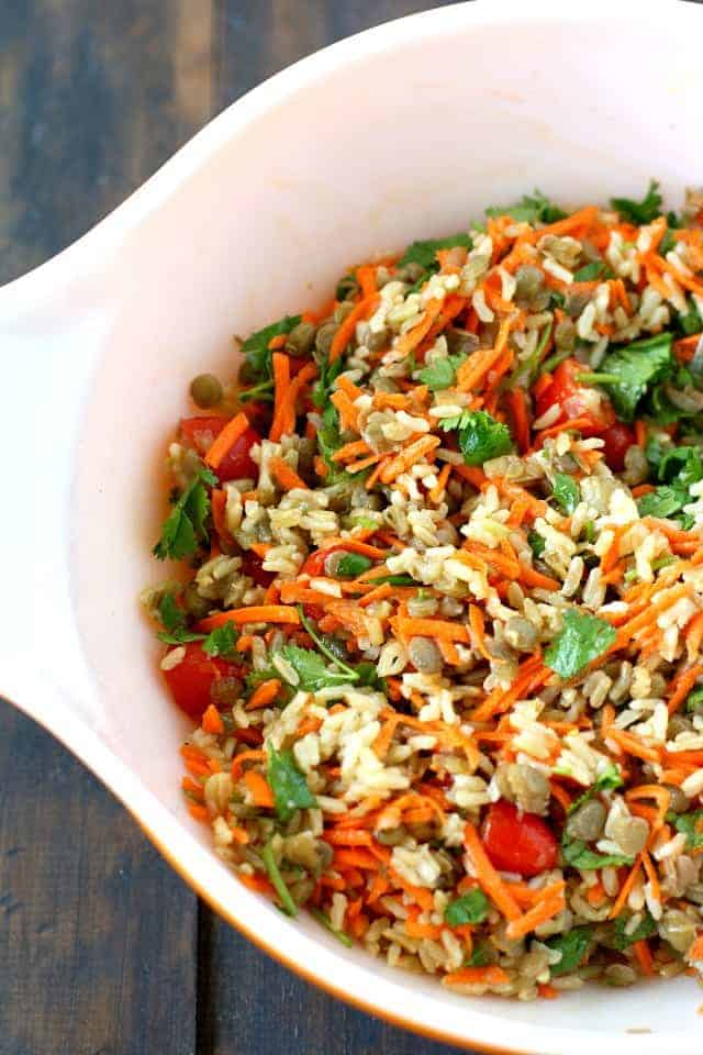 Lentil Salad with Brown Rice