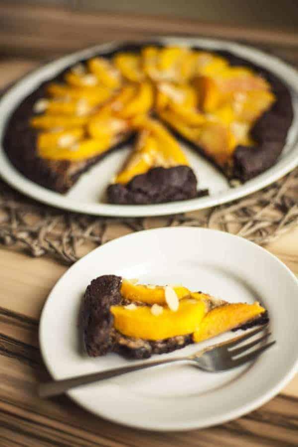 Peach Chocolate Galette (Gluten-Free)