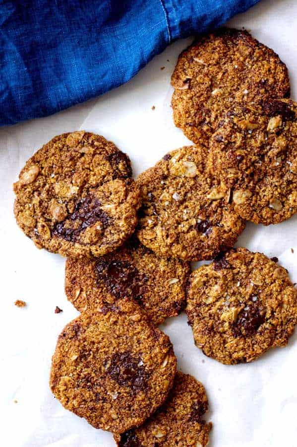 Salted Chocolate and Almond Cookies