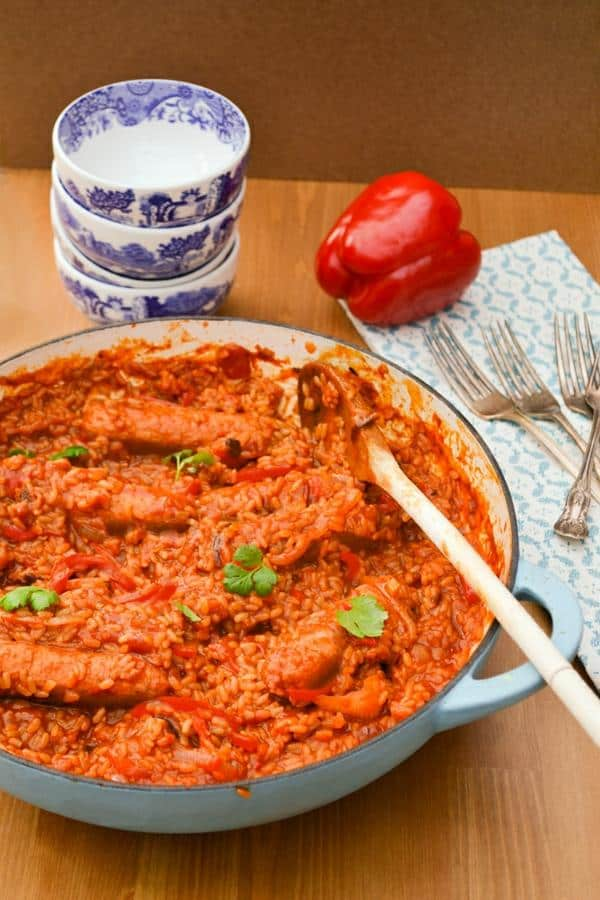 Sausage, Red Pepper and Brown Rice Casserole Recipe