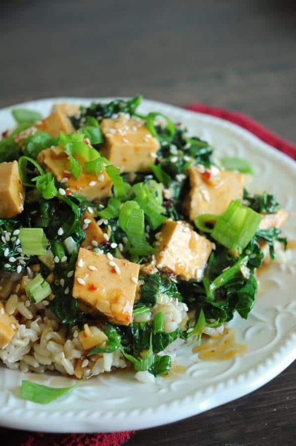 Sesame Orange Tofu Rice Bowl