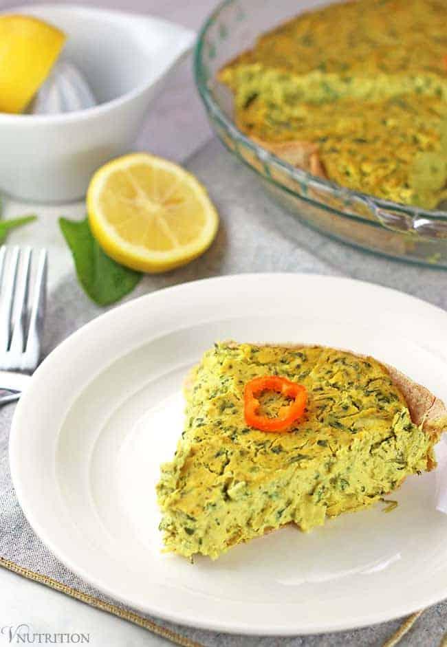 Spinach Artichoke Quiche