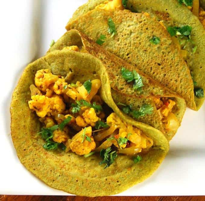 Sprouted Bean Brown Rice Dosa