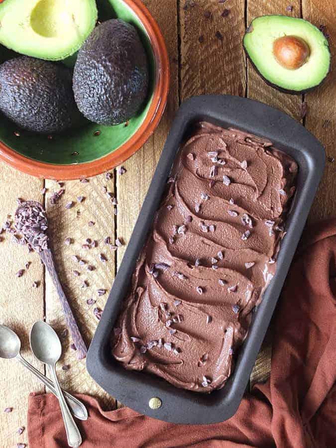 Sugar-Free Chocolate Avocado Ice Cream