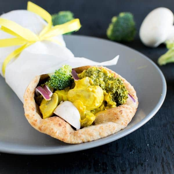 Tandoori Broccoli Mushroom Wrap