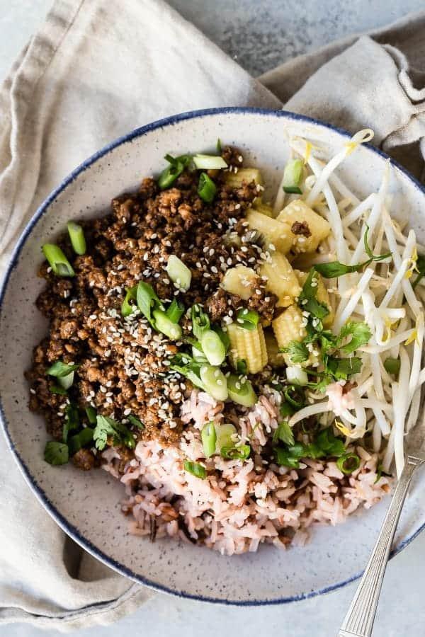 Teriyaki Bowl with Wild Rice