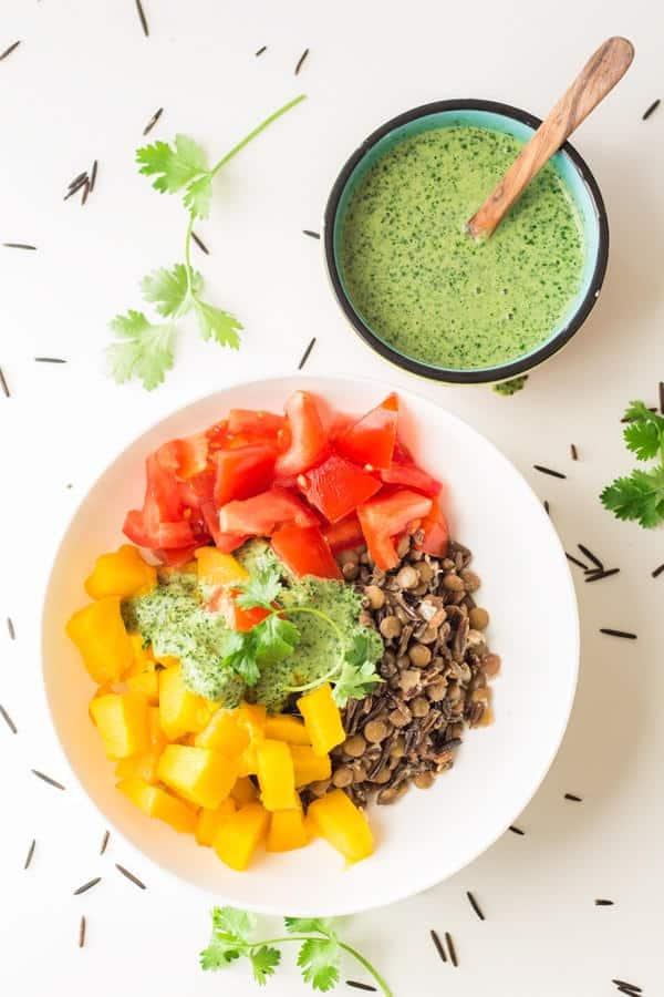 Warm Vegan Wild Rice Salad