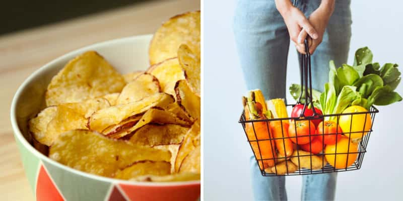 Photo of chips and grocery produce