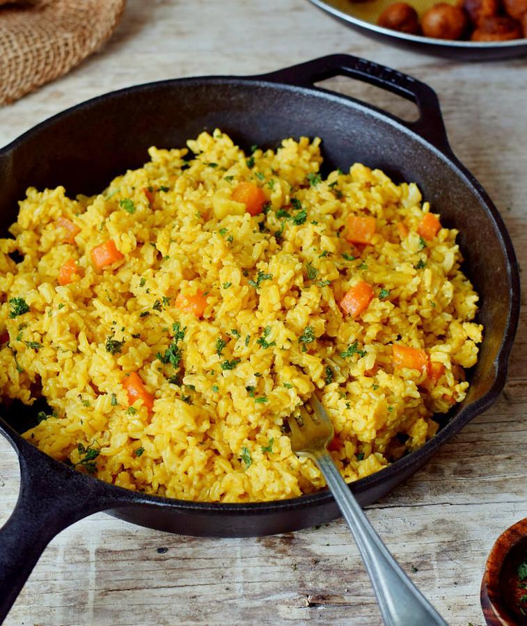 Turmeric Rice With Coconut