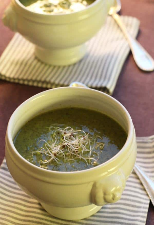 Creamy Kale and Coriander Soup