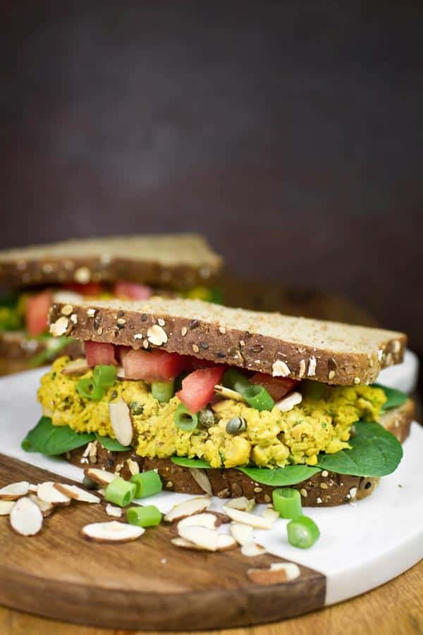 Curry Chickpea Sandwiches