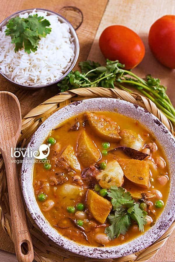 Fresh Borlotti Beans and Butternut Squash Daube (Mauritian Stew)