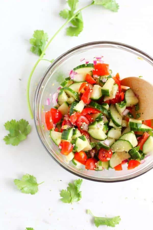 Hemp Cucumber Tomato Salad