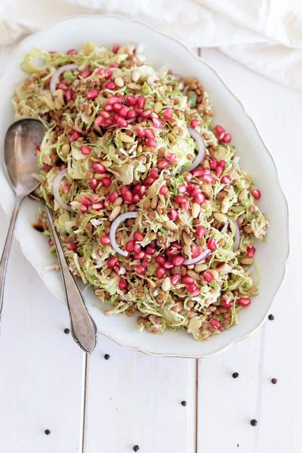Lentil and Brussels Sprout Salad