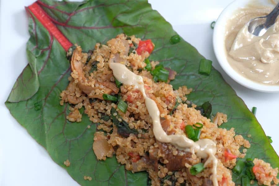 Quinoa Swiss Chard Wraps