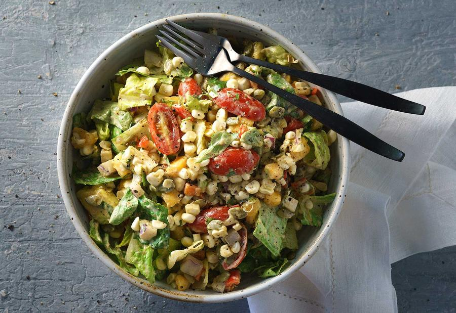 Summer Southwest Salad with Chipotle Dressing