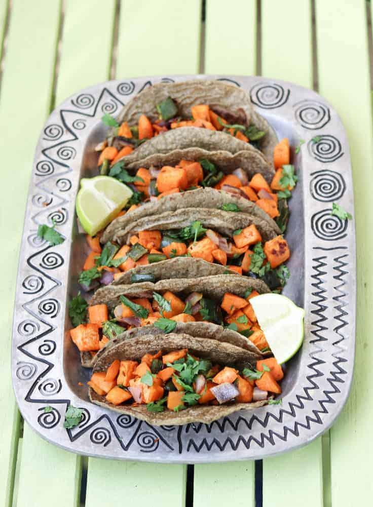 Sweet Potato Tacos with Roasted Cumin