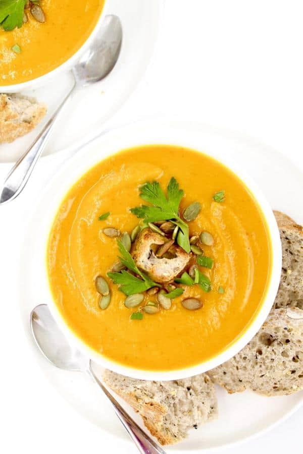 Turmeric Sweet Potato Pumpkin Soup