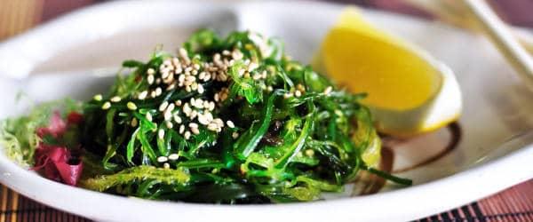 Marinated wakame seaweed dish