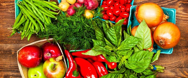 Variety of fresh produce