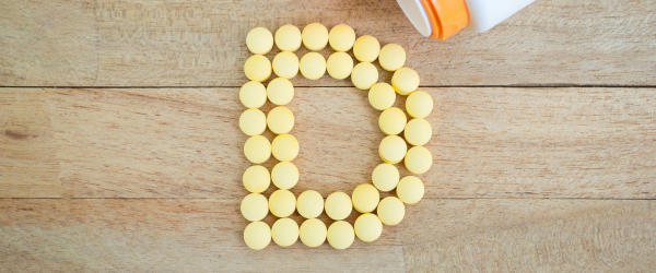 Vitamin D spelled with tablets