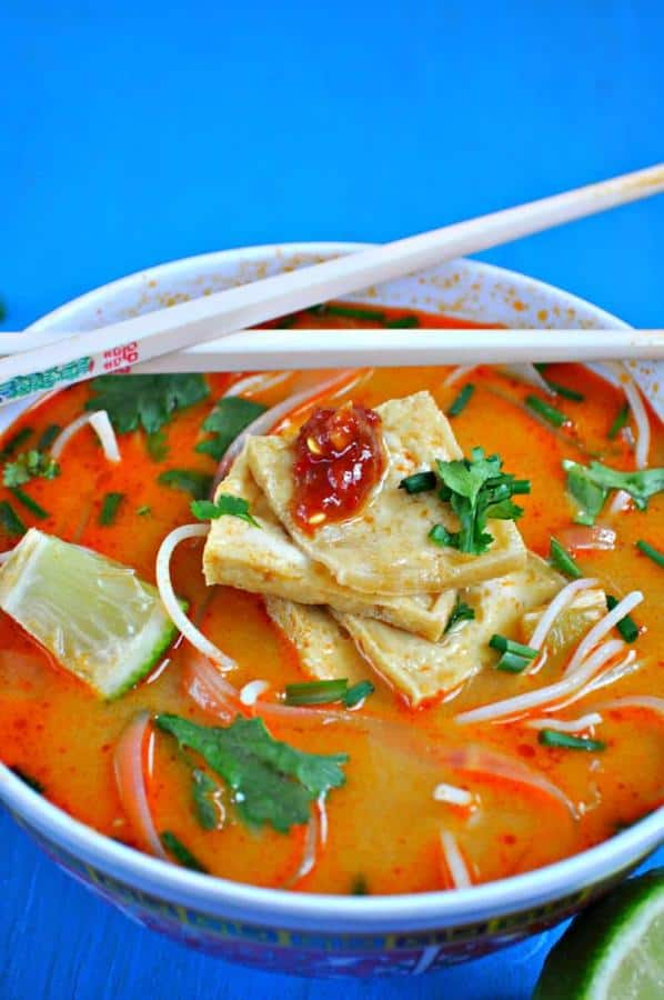 Red Curry Soup With Crispy Tofu