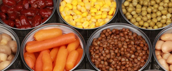 A variety canned foods