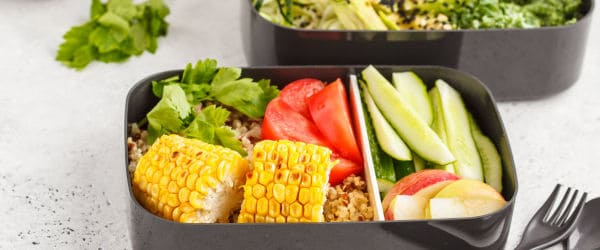 Meal prepped food containers