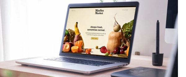 Laptop with the Misfits Market website open