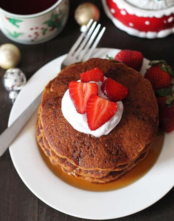 Gingerbread Pancakes (Gluten-Free)