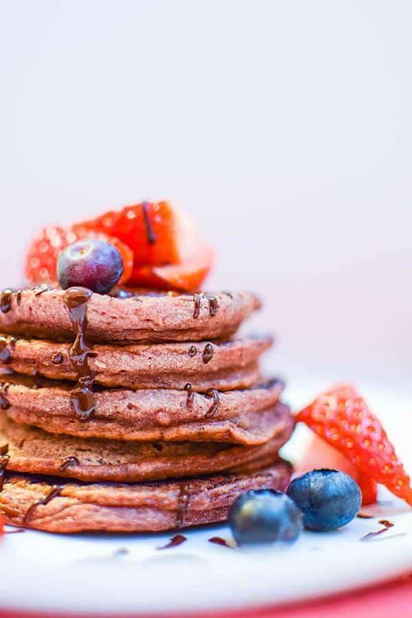 Pretty Pink Protein Pancakes