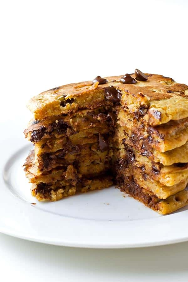 Pumpkin Chocolate Chip Pancakes (Gluten-Free)