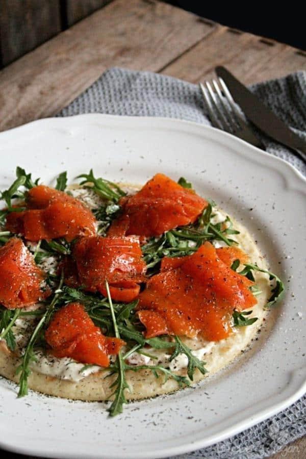 Savory Carrot Lox Pancakes