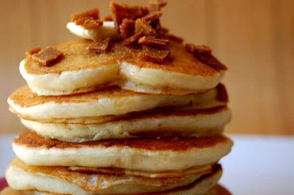 Vegan Ginger, Bacon and Honey Mini Pancakes