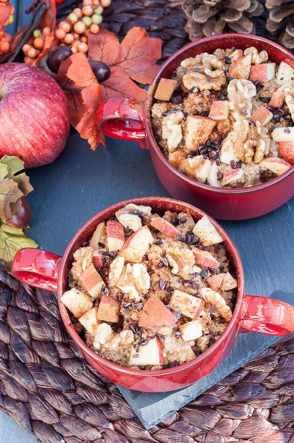 Apple Walnut Quinoa Breakfast Bowl