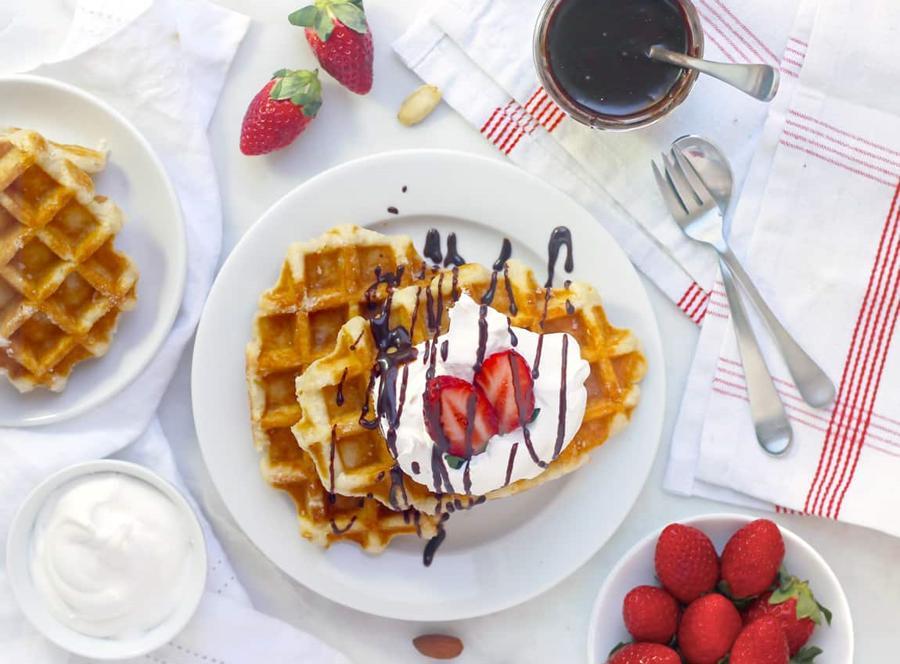 Aquafaba Blender Waffles