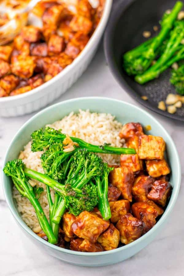 BBQ Tempeh Rice Bowl