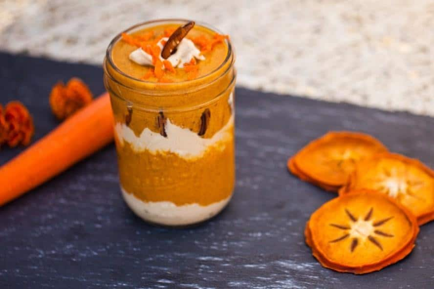 Carrot Cake Smoothie with Sweet Lemon Cashew Cream
