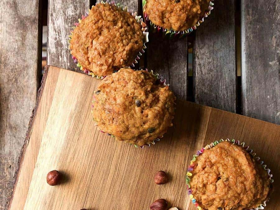 Carrot Passionfruit Muffins