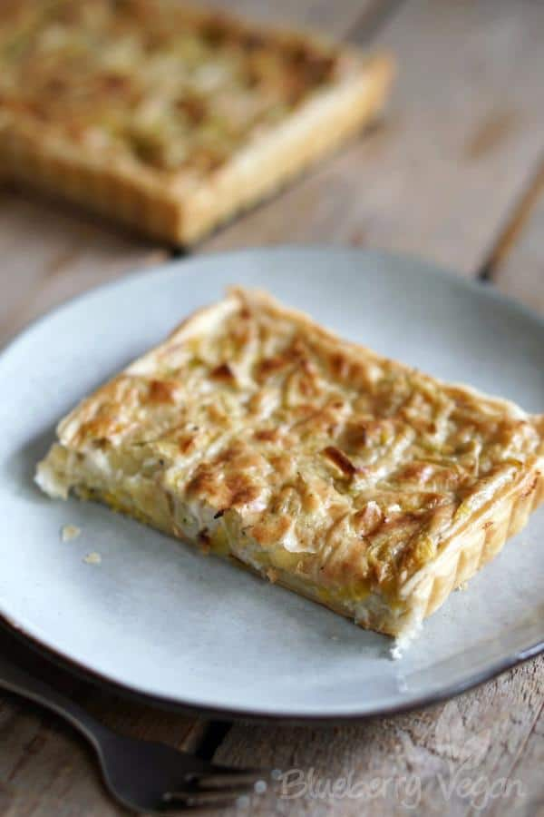Creamy Potato Leek Tart