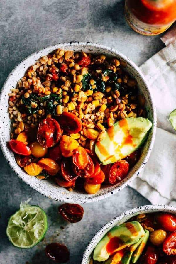 Easy Tempeh Burrito Bowls