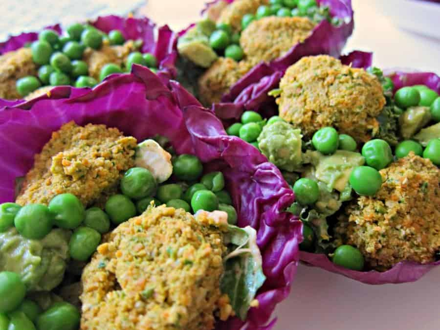 Falafel Cabbage Bowls