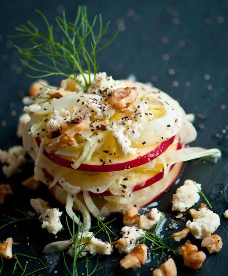 Fennel Apple Salad With Lemon Vinaigrette