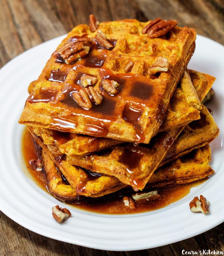 Healthy Pumpkin Waffles