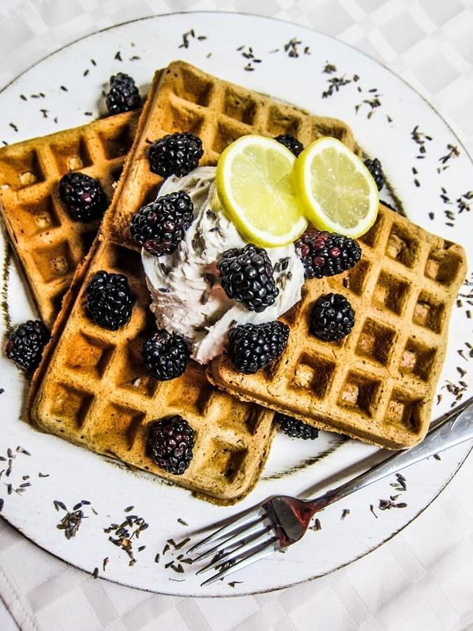 Lavender Lemon Waffles