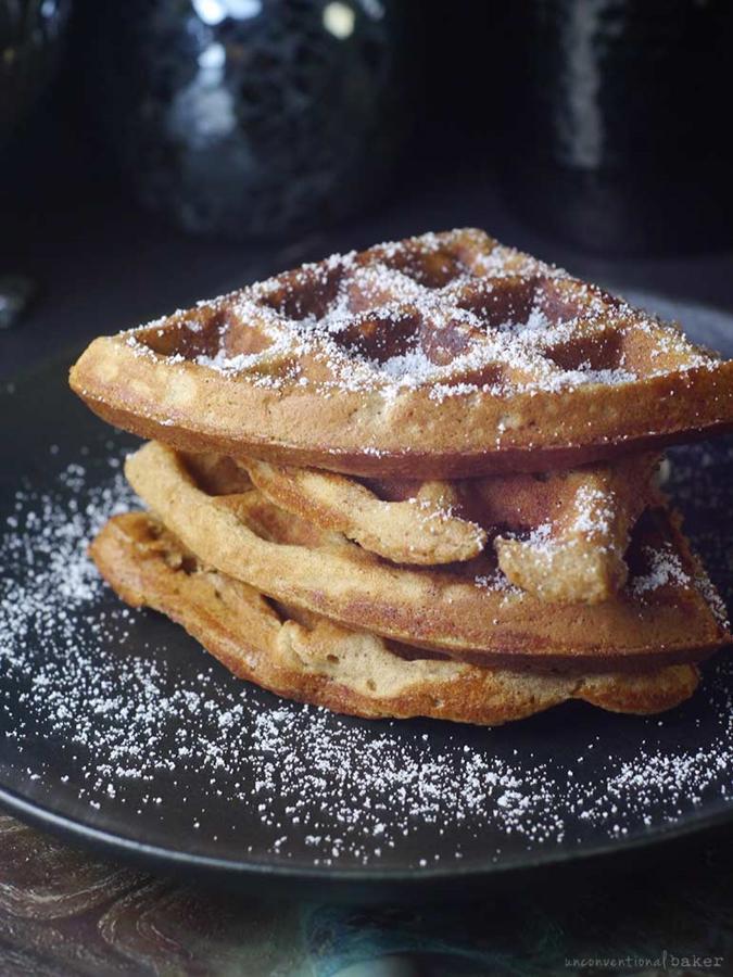 Millet Almond Butter Waffles