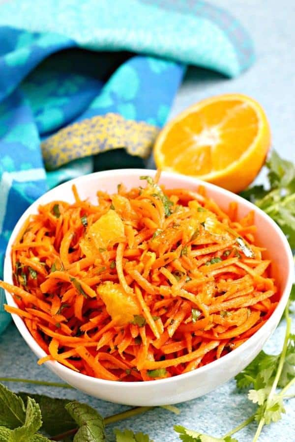 Moroccan Carrot Salad with Oranges