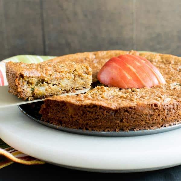 Pan Seared Apple Almond Cake
